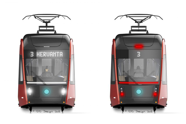 Modern trams with NORIS sensors at two new locations